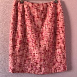 Vintage new multicolored Cynthia pencil skirt